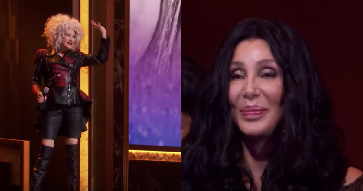 Cyndi Lauper Sings A Surprise Song For Her Friend Cher