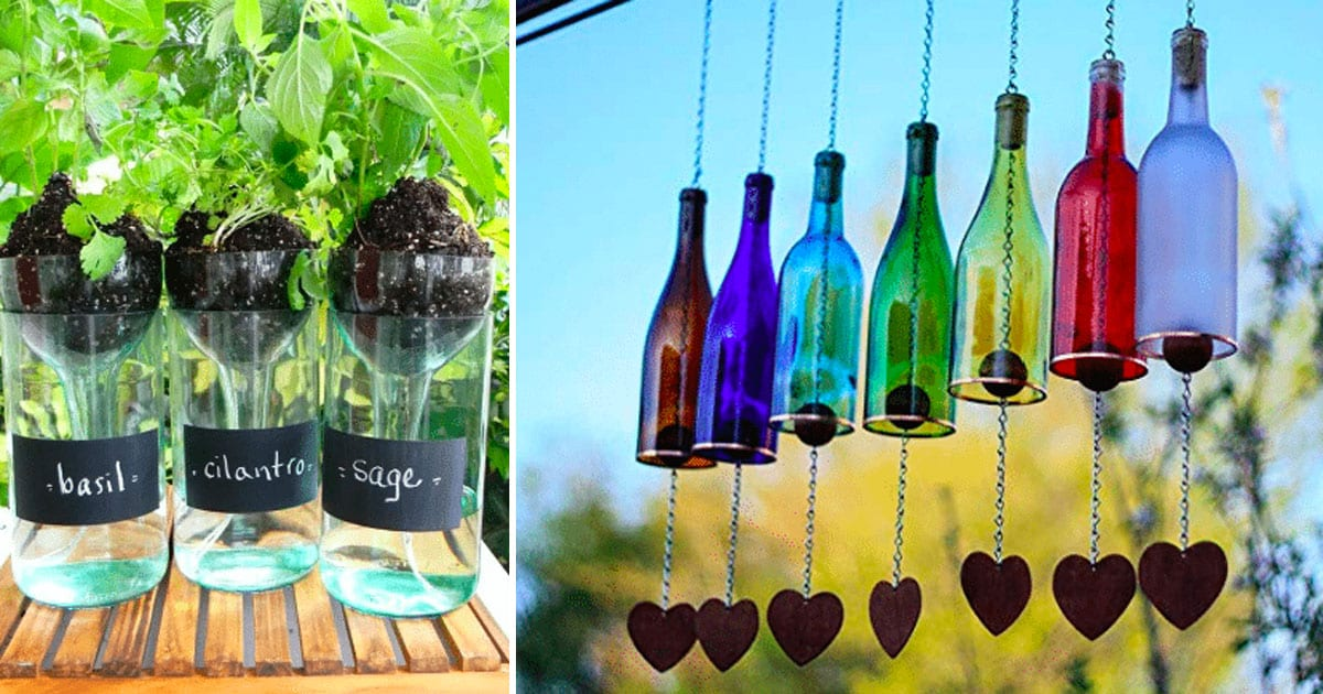 40 Really Smart Ways To Reuse Glass Bottles To Upgrade Your Home