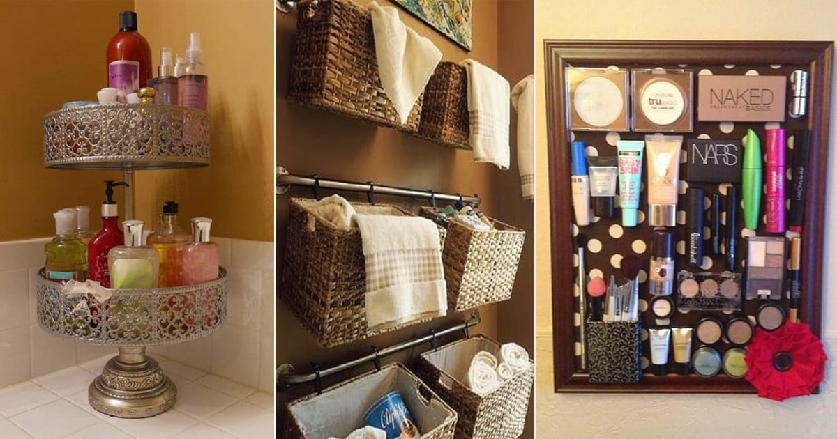 40 Dollar Store Hacks To Keep Your Bathroom Organized
