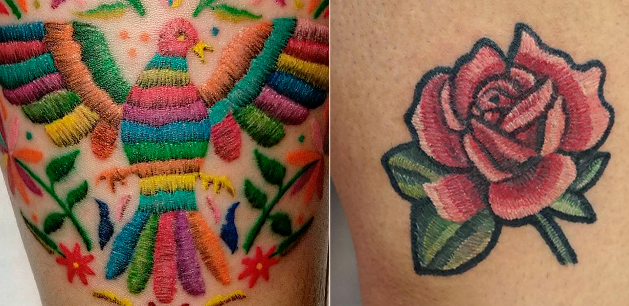 Stitching Tattoo: 25 Embroidery Tattoos That Look Like They're Actually