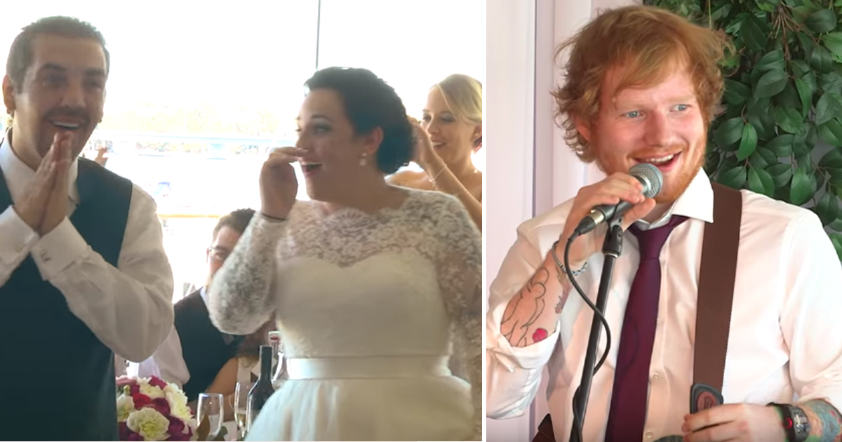 Ed Sheeran Surprises Newlyweds With This On Their Wedding Day