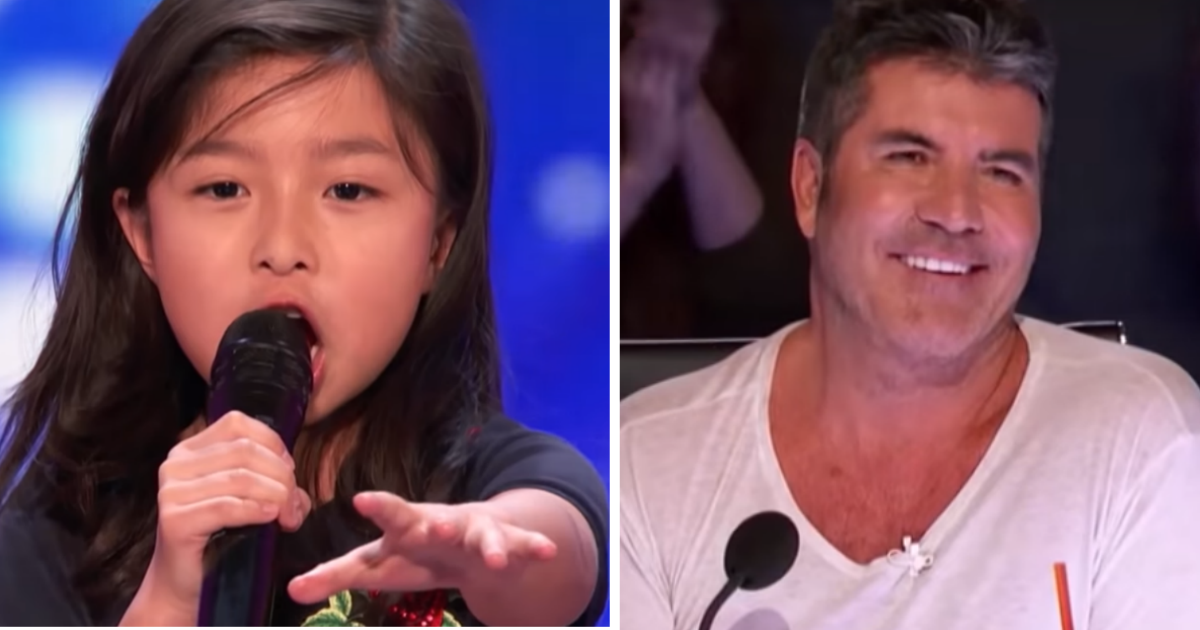 Little Girl Sings Celine Dion And Blows AGT Judges Away