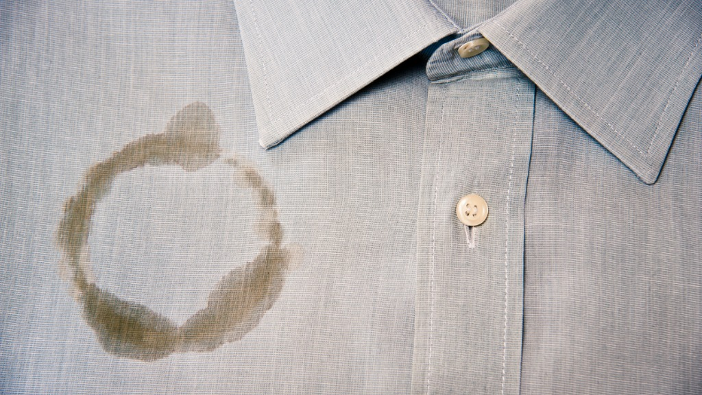 coffee-stain-on-a-clean-and-folded-shirt-picture-id184624876