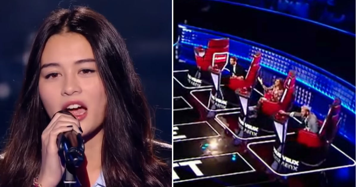 "Teen girl sings Queen's ""Bohemian Rhapsody"" on The Voice and"