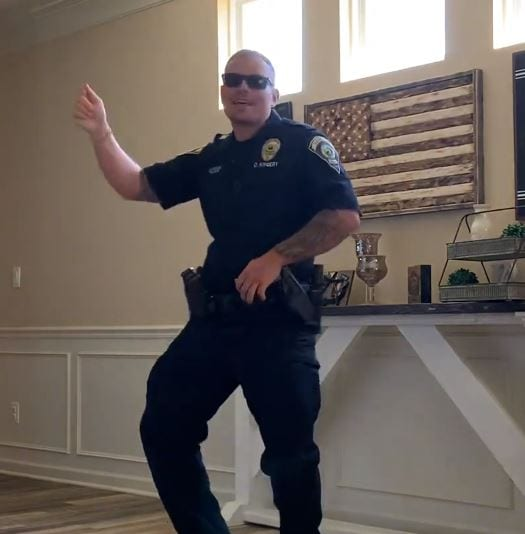 "Cop Accepts ""Git Up"" Challenge And Wins Internet With His Moves"