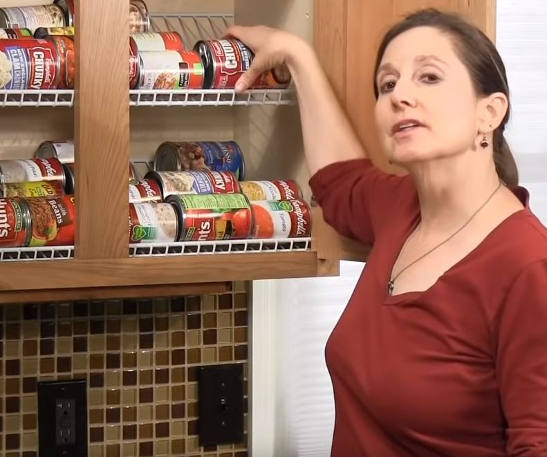 The Worst Mistake People Make When Placing Under Counter: Messy Canned Goods Cabinets Solved With Easy DIY Kitchen Hack