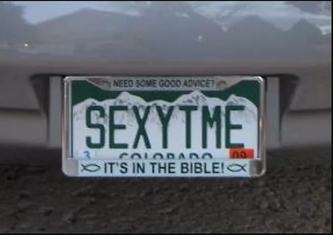 60 outrageous license plates