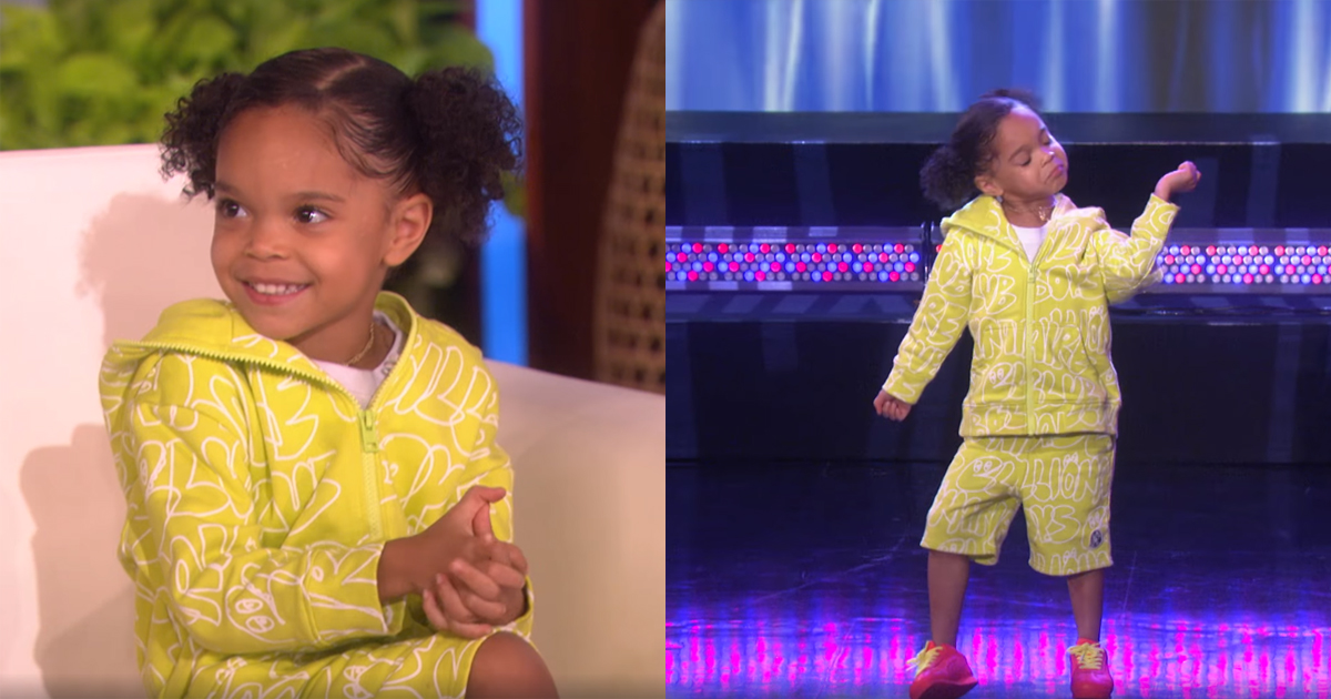 Four-year-old Goes On The Ellen Show To Prove Her Dance Skills