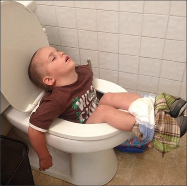 75 times kids proved they can sleep just about anywhere