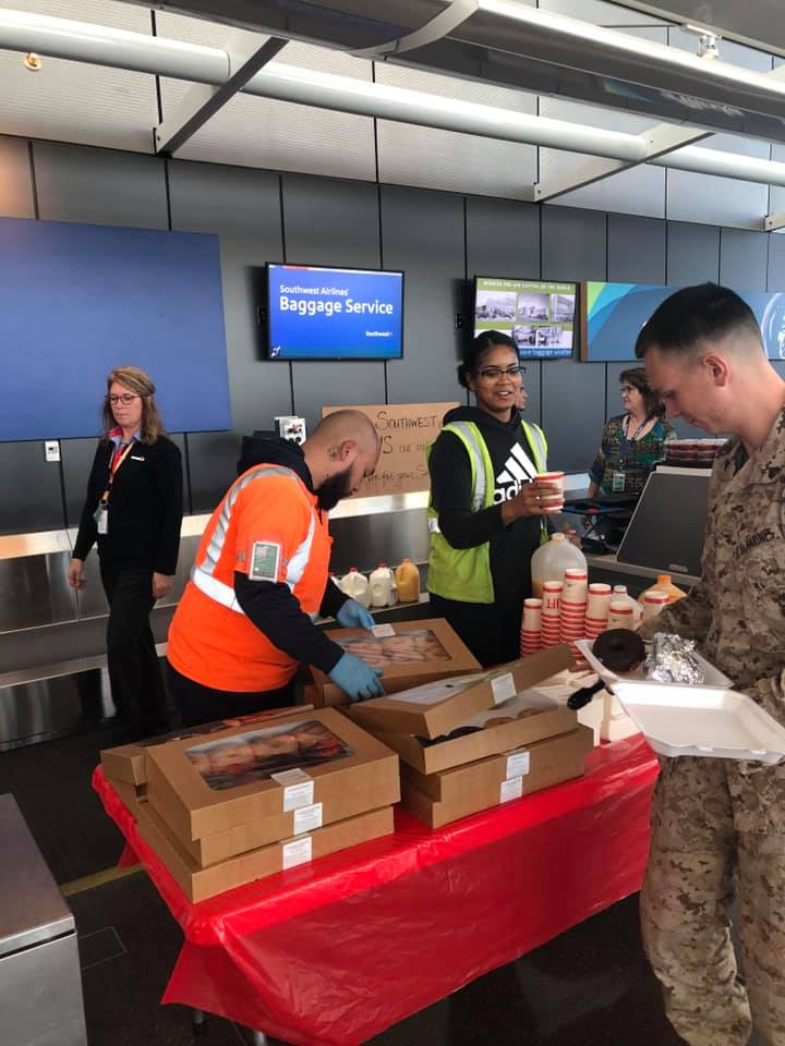 Southwest Employees Arranged 200 Burritos Breakfast For 100 US Military Men And Women