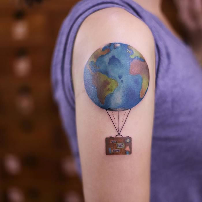 75 Travel Tattoo Ideas That Are Only For Adventure Seekers