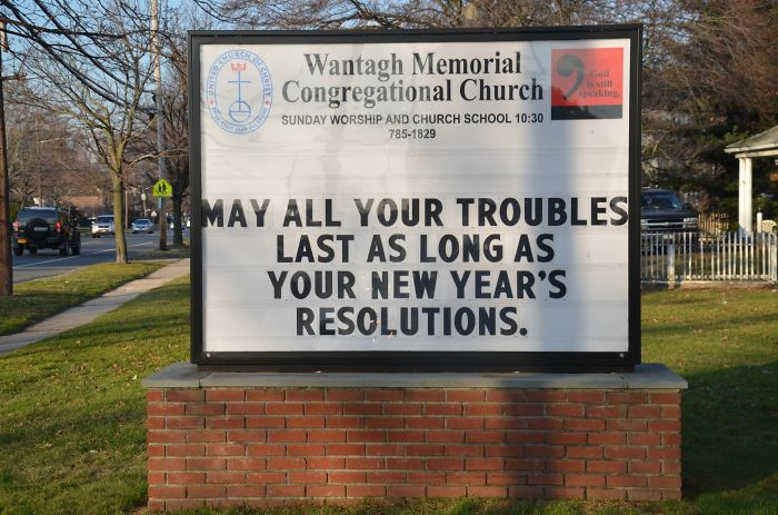 Church Puts Up Clever Welcome Signs That Has Everyone Talking