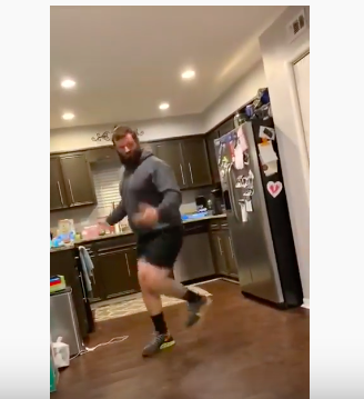 Uncle tires himself busting out best moves to 'Baby Shark ...