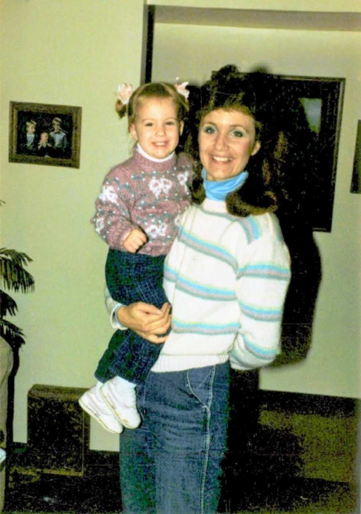 Ashlee Corrigan with Her Mother When She Was 11