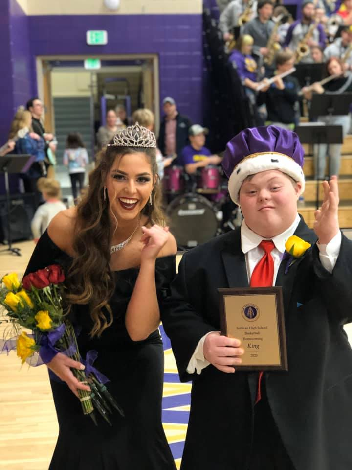 Dryden Davis, Homecoming King, and his Queen at SHS Homecoming 2020