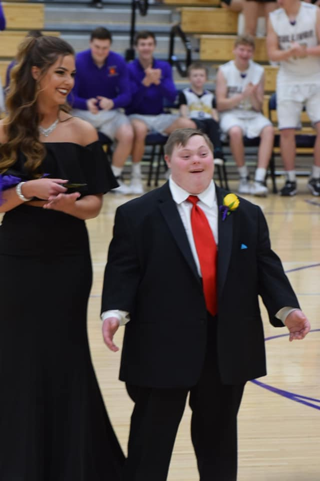Dryden Davis Smiling After Becoming Homecoming King