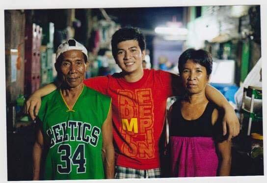Jayvee with his adopted parents