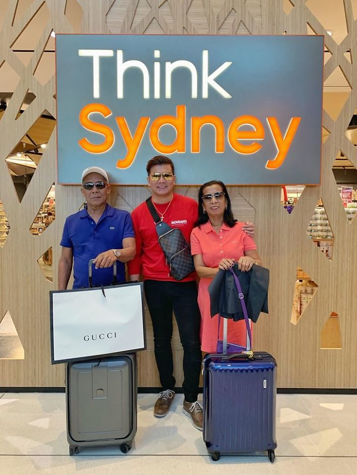 Jayvee with His Adopted Parents in Sydney