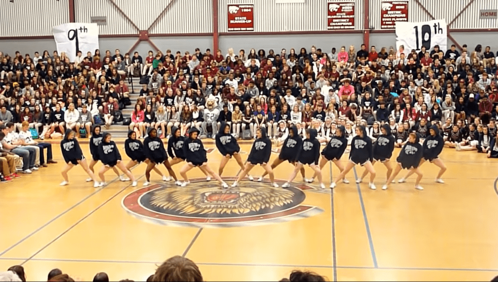 Central High Varsity Cheerleading Squad Does Great Home Pom