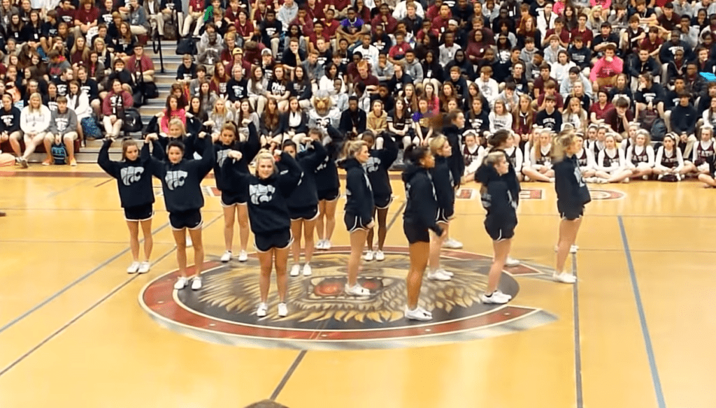 Central High School Cheerleading Squad Mesmerizes Crowd