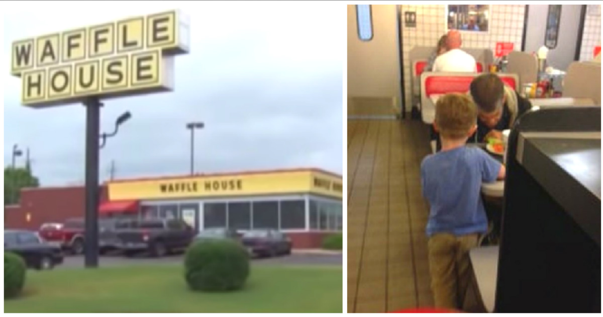 5-year-old helps feed homeless man at Waffle House & his kindness doesn't  end there