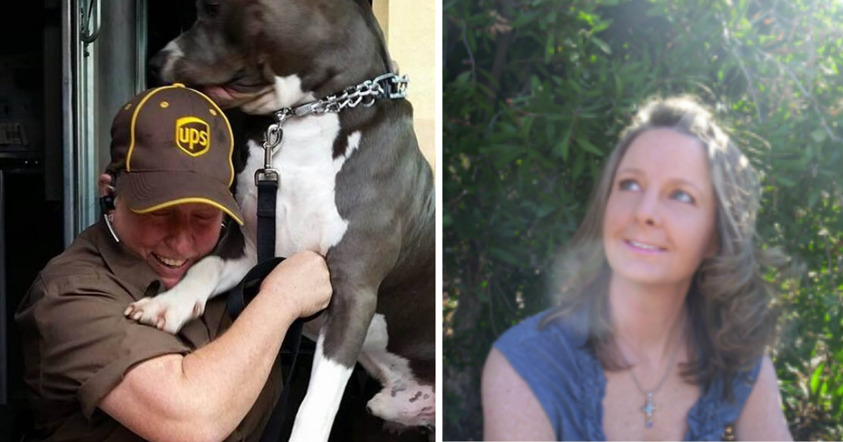 UPS Driver Rescues Friendly Pit Bull On Her Route After Owner Dies