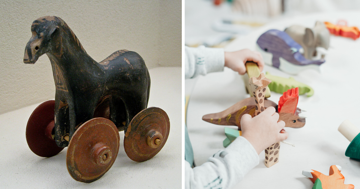 https://www.pexels.com/photo/child-holding-brown-and-green-wooden-animal-toys-3661264/