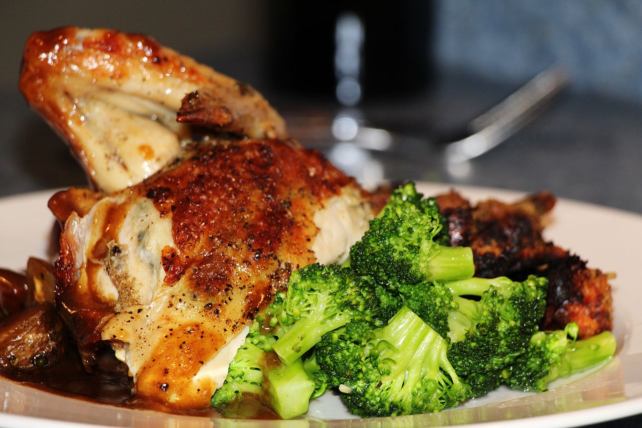 https://commons.wikimedia.org/wiki/File:Roasted_Chicken_Dinner_Plate,_Broccoli,_Demi_Glace.jpg