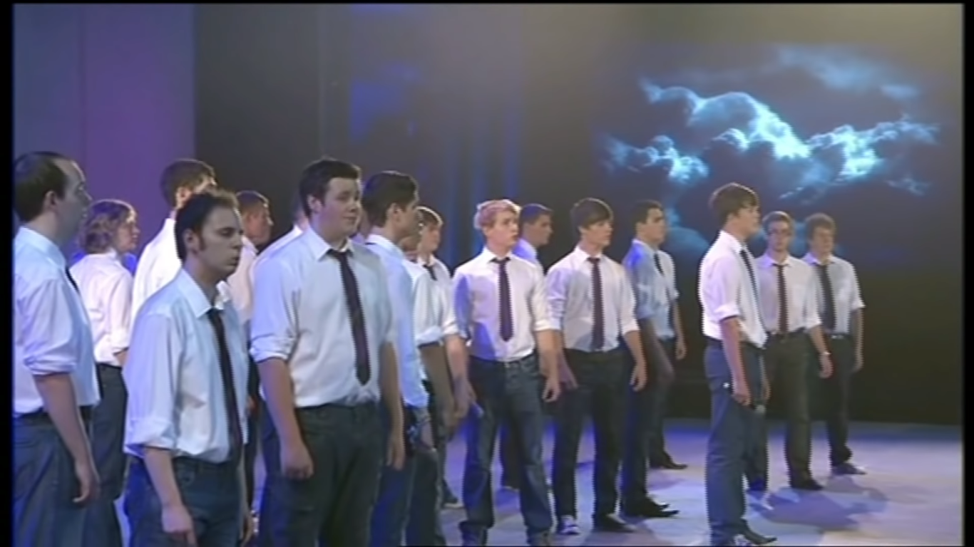 young mens group performs